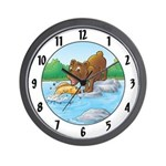 """Buster's """"gone fishing"""" Wall Clock"""