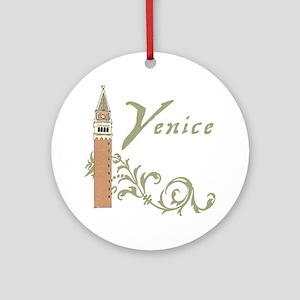 Venice St. Mark's Campanile Ornament (Round)