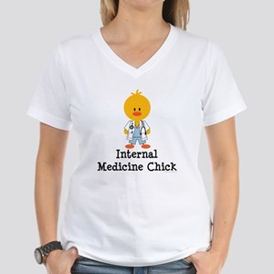 Internal Medicine Chick Women's V-Neck T-Shirt