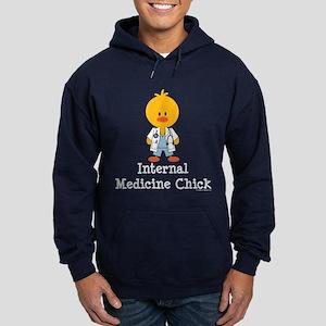 Internal Medicine Chick Hoodie (dark)
