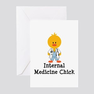 Internal Medicine Chick Greeting Cards (Pk of 20)