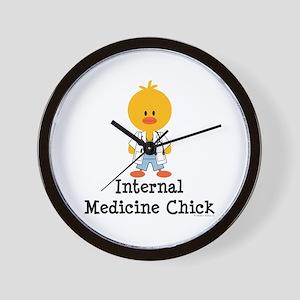 Internal Medicine Chick Wall Clock