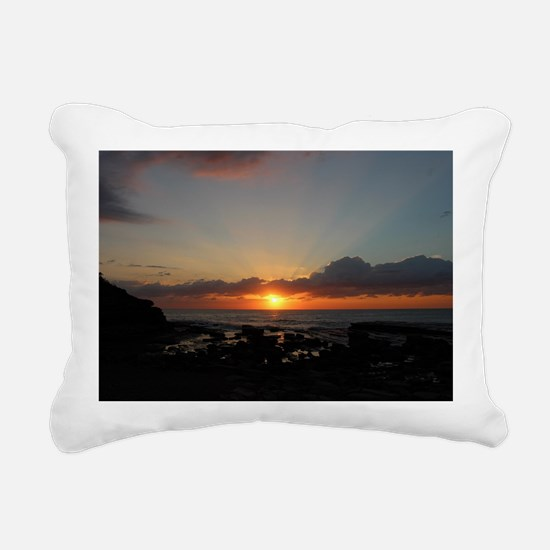 Terrigal Beach Sunrise - Rectangular Canvas Pillow