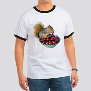 Squirrel with Cranberries Ringer T