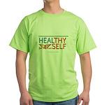 """Green JSL """"HealThy Self"""" T-Shirt"""