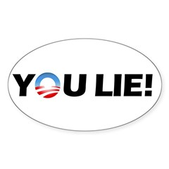 You Lie! Oval Sticker (50 pk)