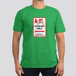 A-10 PARKING ONLY Men's Fitted T-Shirt (dark)