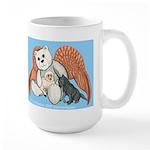 Peace Angel Bear Large Mug