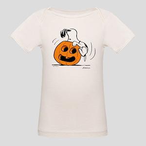 Snoopy Jack O' Lantern Organic Baby T-Shirt