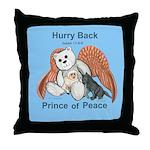 Peace Angel Bear Throw Pillow