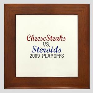 Cheesesteaks Steroids Framed Tile