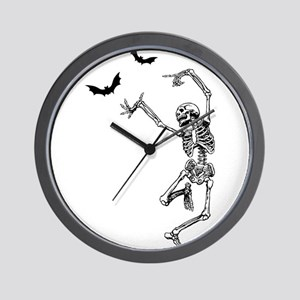 Dancing with the bats -skeleton Wall Clock