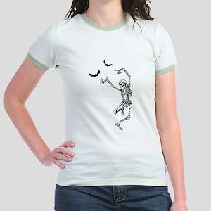 Dancing with the bats -skeleton Jr. Ringer T-Shirt