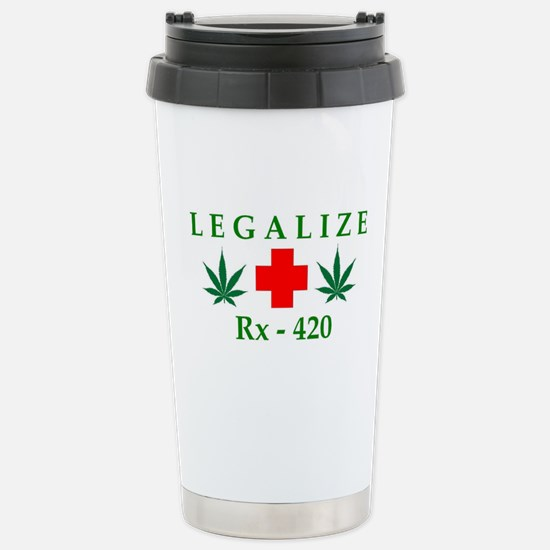 LEGALIZE RX-420 Stainless Steel Travel Mug