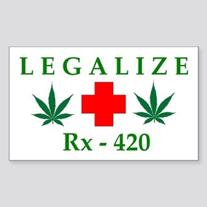 LEGALIZE RX-420 Rectangle Sticker