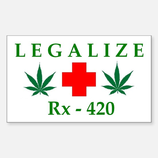 LEGALIZE RX-420 Rectangle Decal
