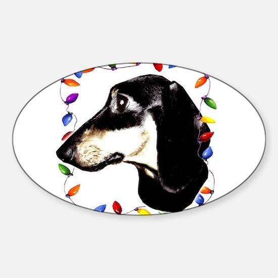dachshund Oval Decal