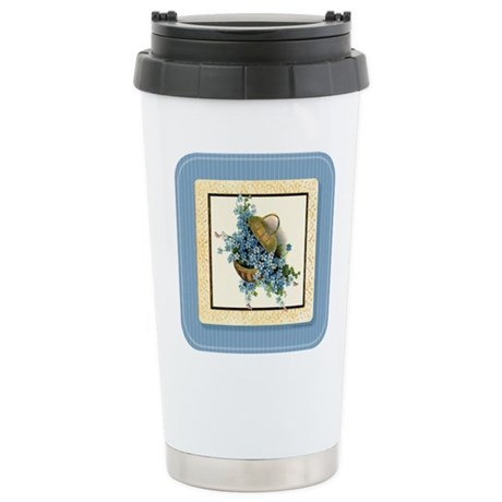 Forget-Me-Nots Stainless Steel Travel Mug