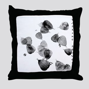 Talking Leaves Throw Pillow