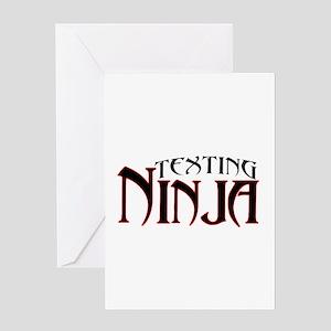 Texting Ninja Greeting Card