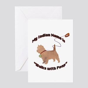 Cairn Terrier Poop Greeting Card