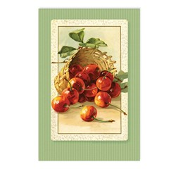Red Cherries in a Basket Postcards (Package of 8)
