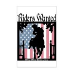 Riders Wanted Mini Poster Print