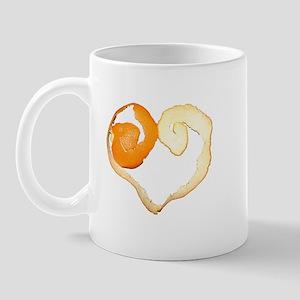 Orange peel heart Mug