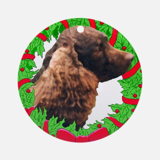 Xmas Amer Water Spaniel Ornament (Round)