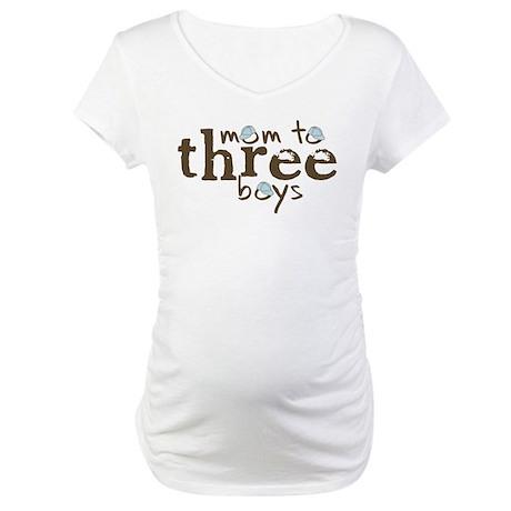 Mom to Three Boys Tshirt Maternity T-Shirt