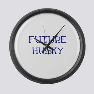 Future Husky Large Wall Clock