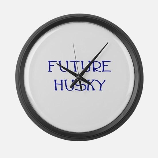 Future Husky Large Wall Clock