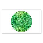 Celtic Triskele Rectangle Sticker 10 pk)