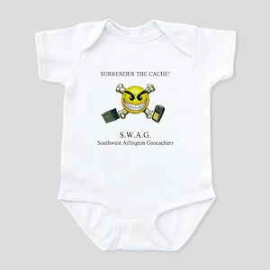 SURRENDER THE CACHE Infant Bodysuit