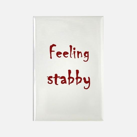 Feeling Stabby Rectangle Magnet