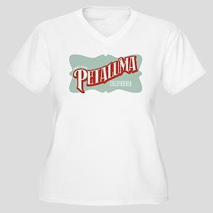 Sweet Home Petaluma Women's Plus Size V-Neck T-Shi
