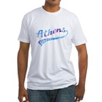 White Fitted Athens T-Shirt