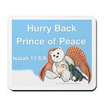 Peace Angel Bear Mousepad