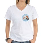 Peace Angel Bear Women's V-Neck T-Shirt