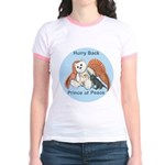 Peace Angel Bear Jr. Ringer T-Shirt