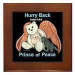 Peace Angel Bear Framed Tile