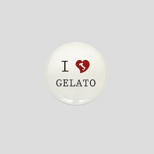 I Love Gelato Mini Button