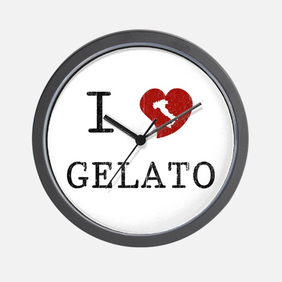 I Love Gelato Wall Clock