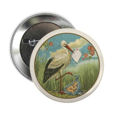"Baby Boy Birth Announcement 2.25"" Button-100"