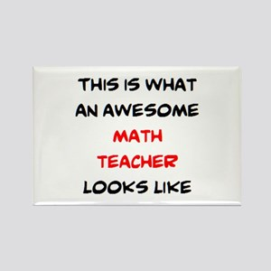 awesome math teacher Rectangle Magnet