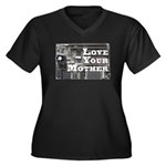 Love Your Mother (board) Women's Plus Size V-Neck