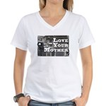 Love Your Mother (board) Women's V-Neck T-Shirt