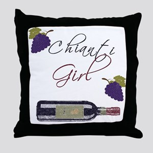 Chianti Girl Throw Pillow