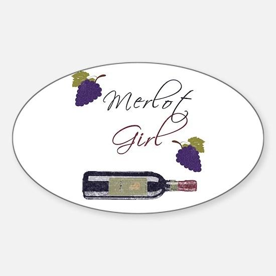 Merlot Girl Oval Decal