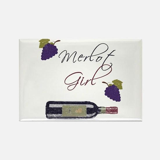 Merlot Girl Rectangle Magnet